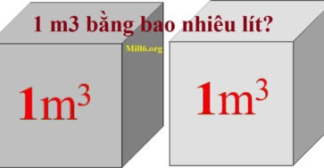 1 m3 bằng bao nhiêu lít? Các đơn vị quy đổi thể tích