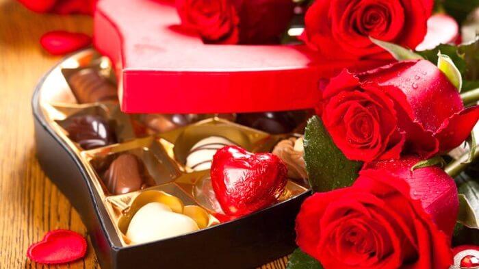Tặng chocolate ngày 14 tháng 2